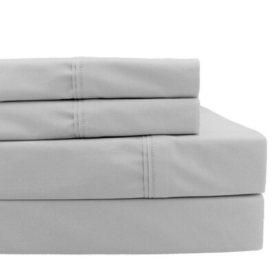 4 Piece 700 Thread Count Sheet Set Size: California King, Color: Silver