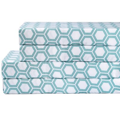 Honeycomb 200 Thread Count 100% Cotton Sheet Set Size: Twin