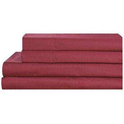 4 Piece 600 Thread Count 100% Cotton Sheet Set Size: Queen, Color: Burgundy