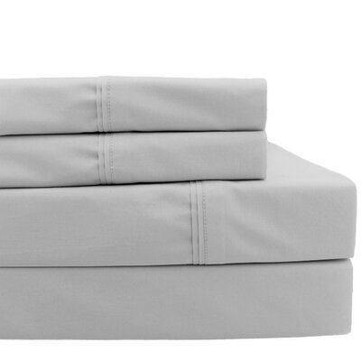 Pillowcase Size: Standard, Color: Silver