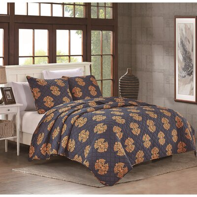 Uptown Luxe Grand 3 Piece Quilt Set Size: Full/Queen