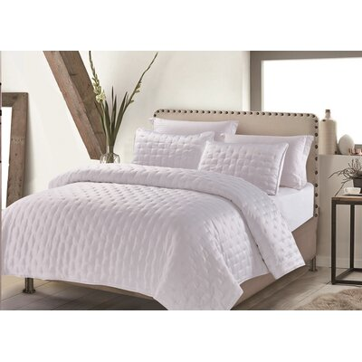 Hotel Masterpiece 3 Piece Coverlet Set Size: Full/Queen, Color: White