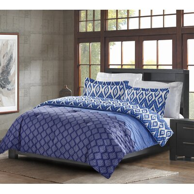 Avant-Garde Bazaar Cairo 3 Piece Quilt Set Size: King, Color: Indigo