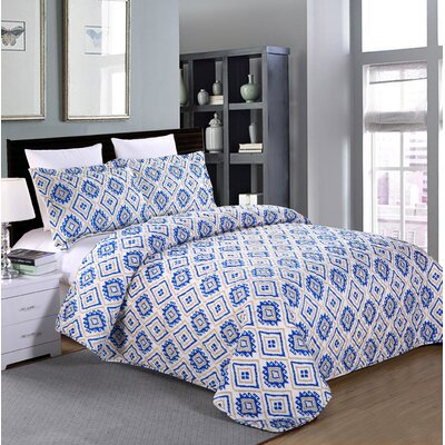 Durban 3 Piece Quilt Set Size: King