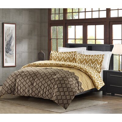Avant-Garde Bazaar Cairo 3 Piece Quilt Set Color: Earth, Size: King