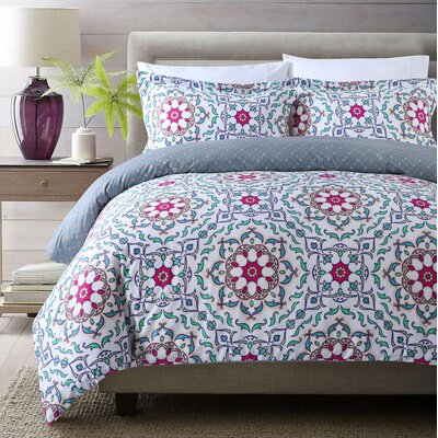 Tirana 3 Piece Duvet Cover Set Size: King