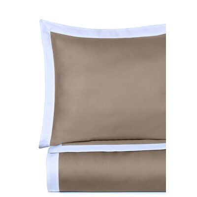 Rich 3 Piece Duvet Cover Set Size: Full/Queen, Color: Taupe