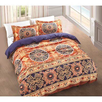 Uptown Luxe - Grand 3 Piece Duvet Cover Set Size: Full/Queen