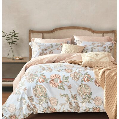 Trinity 3 Piece Reversible Duvet Cover Set Size: King