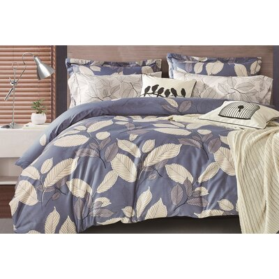 Uptown Luxe - Mangrove 3 Piece Duvet Cover Set Size: King