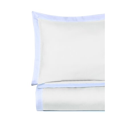 Rich 3 Piece Duvet Cover Set Color: Pure White, Size: King
