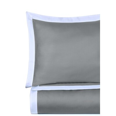 Rich 3 Piece Duvet Cover Set Size: Full/Queen, Color: Silver