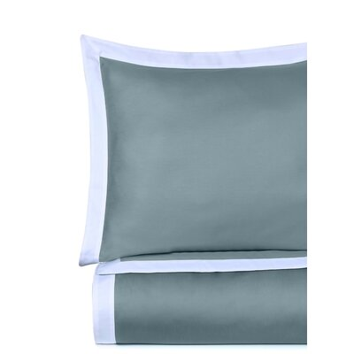 Rich 3 Piece Duvet Cover Set Size: King, Color: Steel Blue