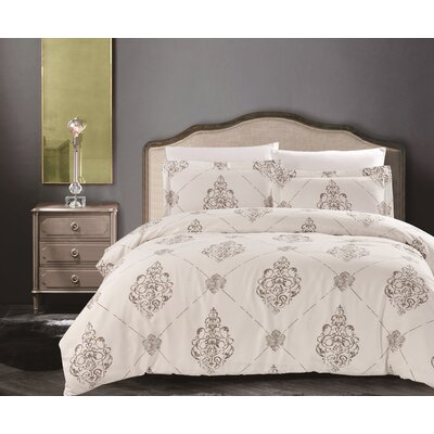 Uptown Luxe Madison 3 Piece Duvet Cover Set Size: King