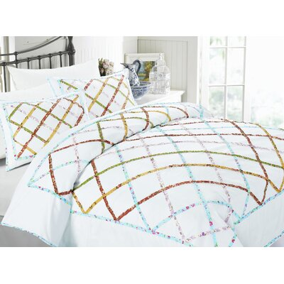 Kalediscope 3 Piece Duvet Set Size: Full/Queen