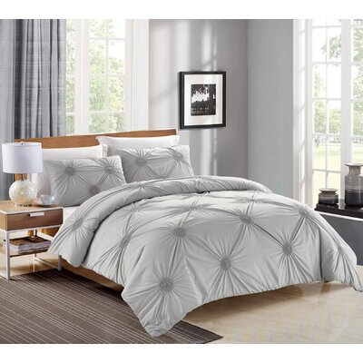 Tahiti Pearl 3 Piece Duvet Cover Set Size: King, Color: Silver
