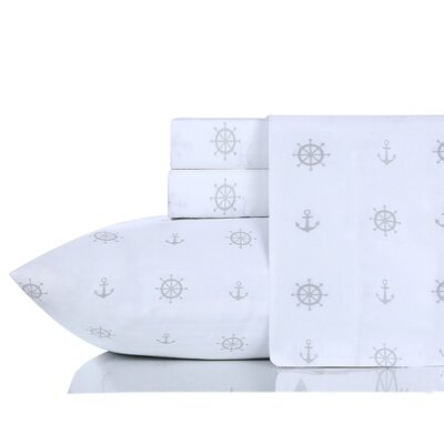 Jefferson Anchor N Sail 200 Thread Count 100% Cotton Sheet Set Size: California King