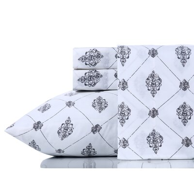Breesha Pure 200 Thread Count 100% Cotton Sheet Set Size: Queen