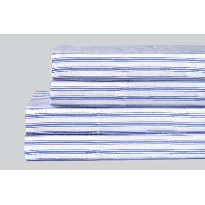 Brewer Classic Ticking Stripe 200 Thread Count 100% Cotton 4 Piece Sheet Set
