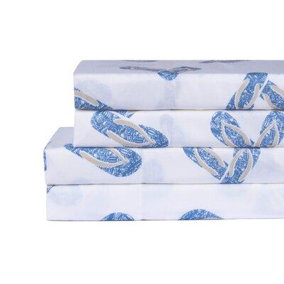 Bower Flip Flop 200 Thread Count 100% Cotton 4 Piece Sheet Set