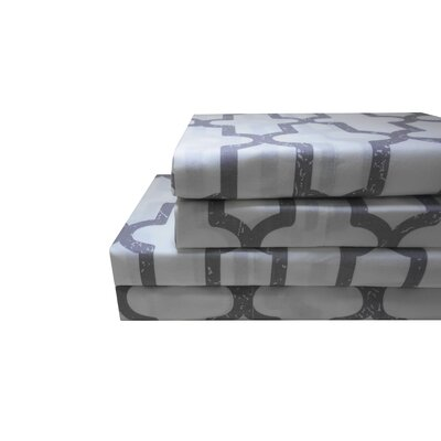 Basche 200 Thread Count 100% Cotton 4 Piece Sheet Set Size: Queen