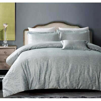 Buckingham Bloom 3 Piece Duvet Set Size: Full/Queen, Color: Royal Taupe