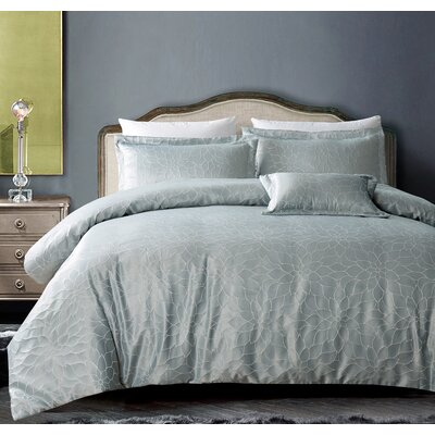 Buckingham Bloom 4 Piece Comforter Set Color: Royal Taupe, Size: King