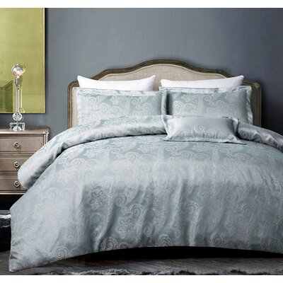 Regis Luxe 3 Piece Duvet Set Size: King