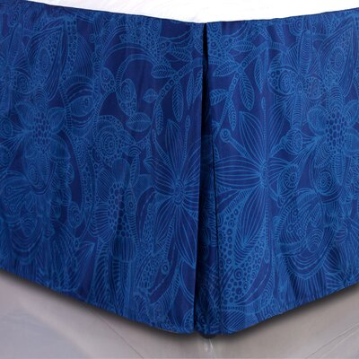 Flower and Doodle Microfiber Bed Skirt Size: Queen