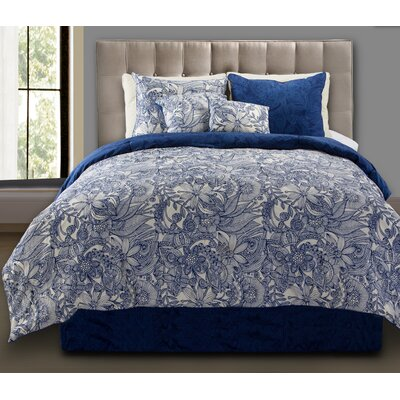 Flowers and Doodles Comforter Set Size: Twin