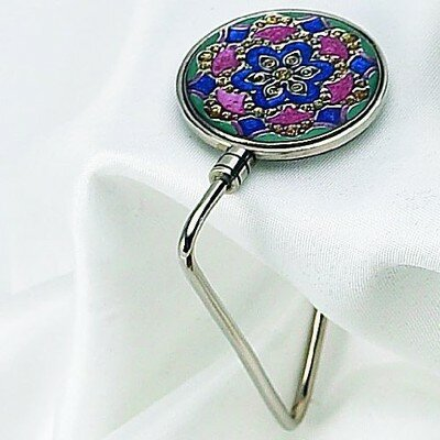 Enamel Jeweled Handbag Hook 83799