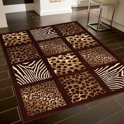 Chocolate Area Rug Rug Size: 79 x 105