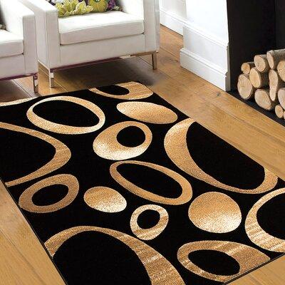 Black Area Rug Rug Size: 79 x 105