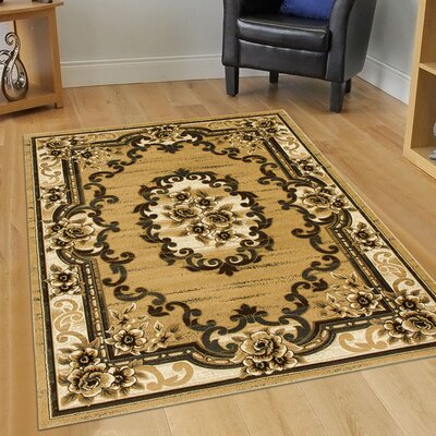 Champagne Area Rug Rug Size: 79 x 105