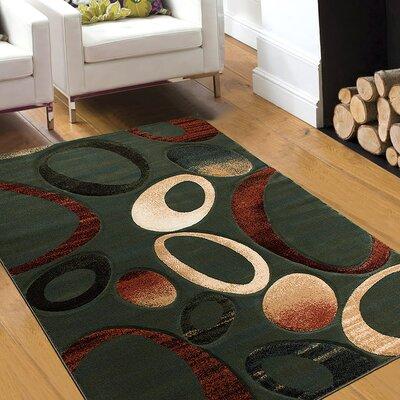 Teal Area Rug Rug Size: 39 x 51