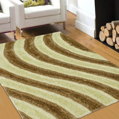 Hand-Tufted Champagne Area Rug Rug Size: 5 x 7