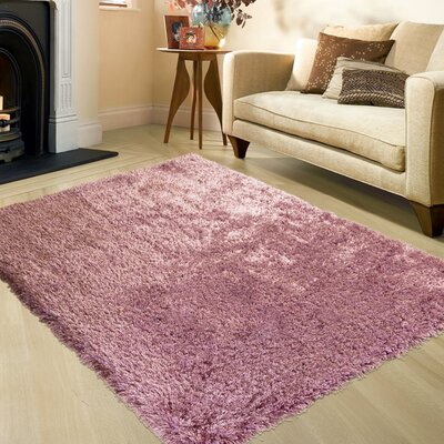 Pink Area Rug Rug Size: Rectangle 77 x 104