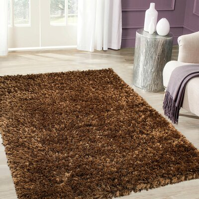 Handmade Light Brown Area Rug Rug Size: 7 x 102