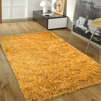 Handmade Honey Area Rug Rug Size: 7 x 102