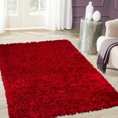 Handmade Red Area Rug Rug Size: 7 x 102