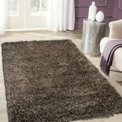 Handmade Brown Area Rug Rug Size: 7 x 102