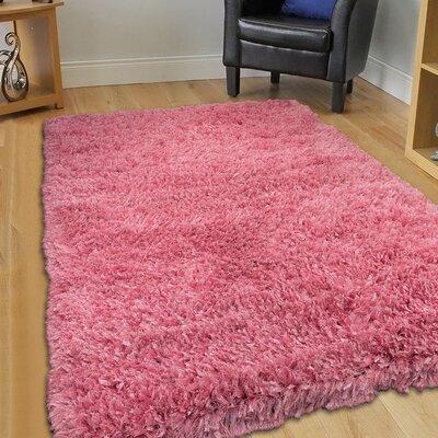 Handmade Pink Area Rug Rug Size: 7 x 102