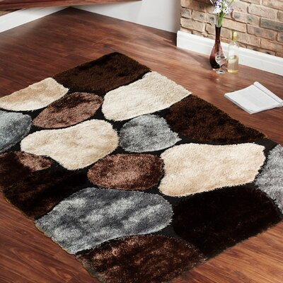 Hand-Tufted Brown Area Rug Rug Size: 411 x 611