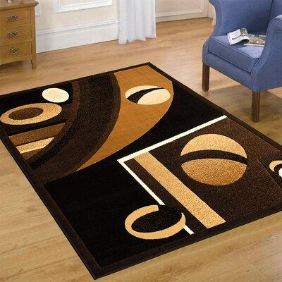 Black Area Rug Rug Size: 52 x 72