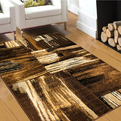 Brown Area Rug Rug Size: 5 x 611