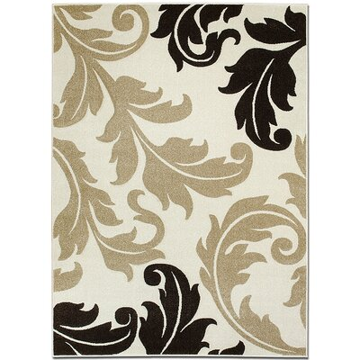 Ivory Area Rug Rug Size: Rectangle 39 x 51