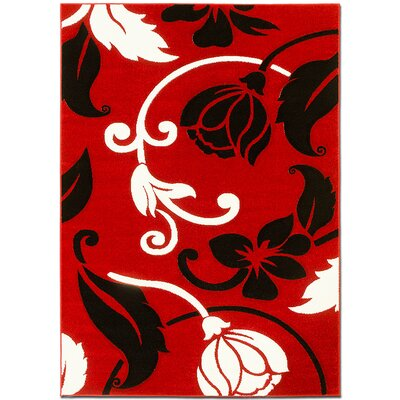 Red Area Rug Rug Size: 52 x 72