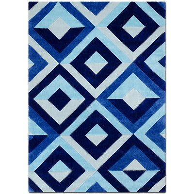 Handmade Blue Area Rug Rug Size: 7 x 102