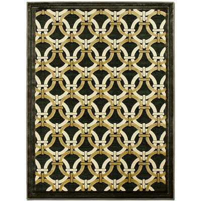 Exotic Green/Beige Area Rug Rug Size: 79 x 105