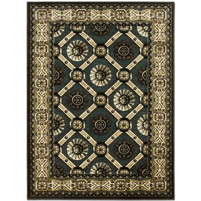 Exotic Green/Beige Area Rug Rug Size: 52 x 7